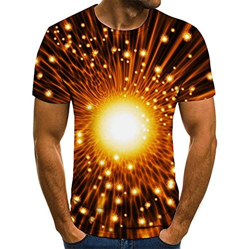 HGFHKL Fantasia Halo T-Shirt da Uomo a Maniche Corte con Stampa 3D T-Shirt Estiva Casual Girocollo Modello Divertente