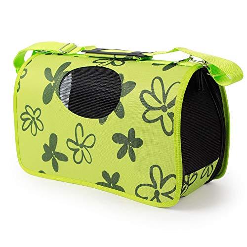 Pet Dog Carrier Bag Travel Bag Outdoor Single Shoulder Bag For Small Dog Cat S/M/L Cat Carrier (Color : Green, Size : S)