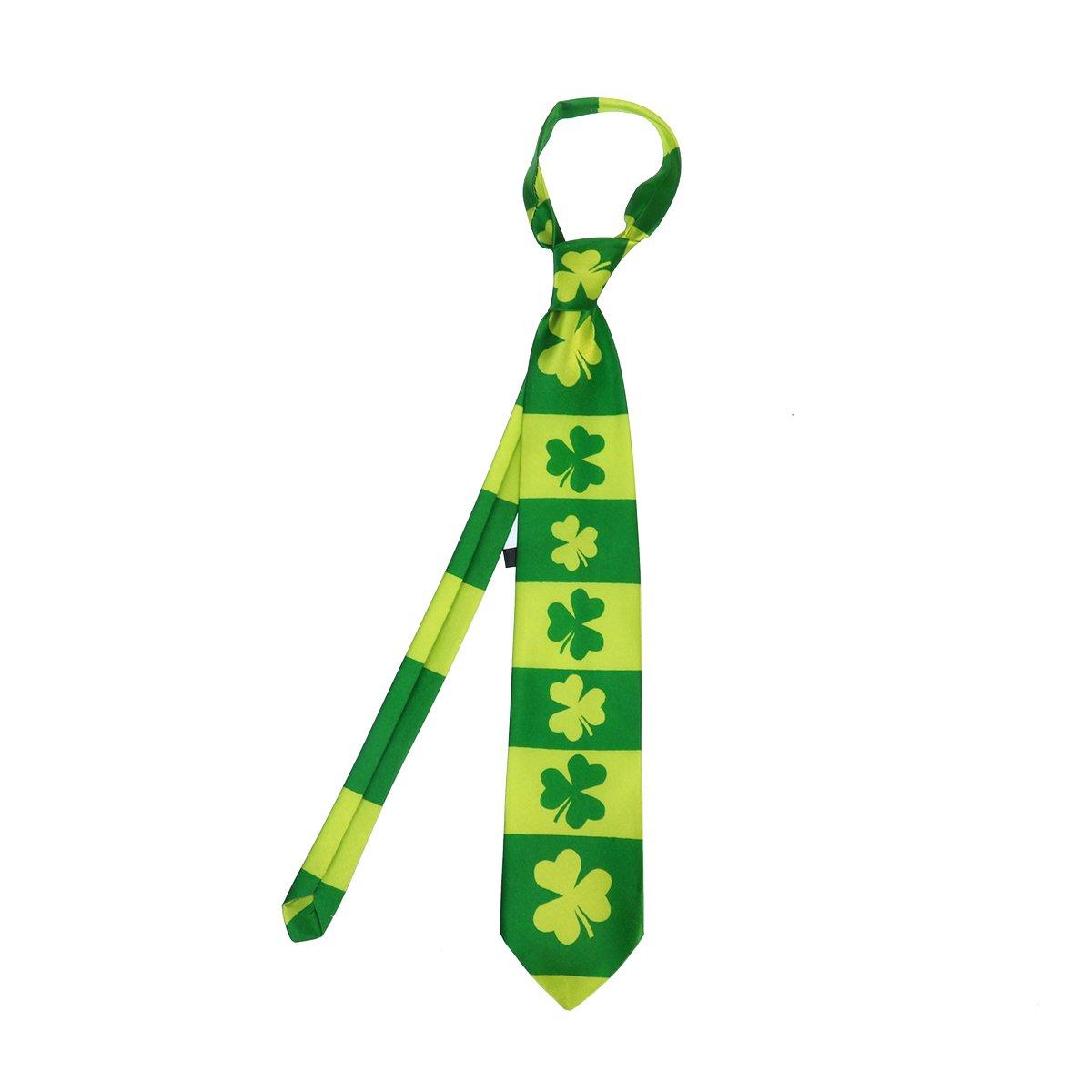 LUOEM St. Patrick Irlandesa Corbata Shamrock de Corbata la Corbata ...