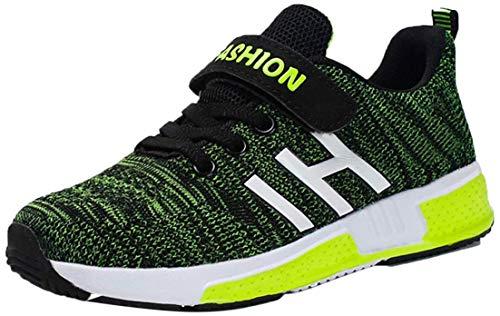 Goalsse Unisex-Kinder Sportschuhe Atmungsaktiv Laufschuhe Outdoor Turnschuhe Freizeit Schuhe Klettverschluss Sneaker für Kinder, Jungen (33 EU, Grün)