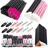 283 Pieces Makeup tools with storage box Makeup Applicators Tool Kit Includes Plastic Organizer Box Hair Clips Eyeliner Brushes Mascara Wands and Lipstick Applicators Lip Wands