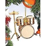 Brass Drum Set Christmas Ornament