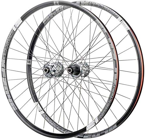 ZHTY Bike Bicycle Wheelset 26, Double Wall Cycling Wheels Quick Release Sealed Bearings Hub 32 Hole Disc Brake 8,9,10,11 Speed Brackets Hubs Bike Wheels