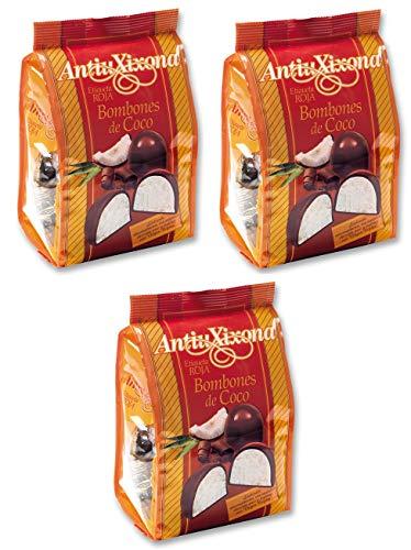 Bombones de coco Antiu Xixona etiqueta roja 140 g. [PACK 3 UNIDADES] TOTAL 420 G.