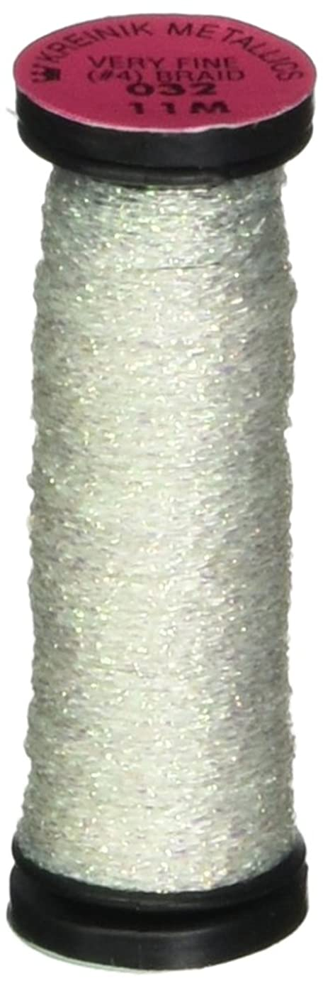 Kreinik No.4 Very Fine Metallic Braid, 11m, Pearl