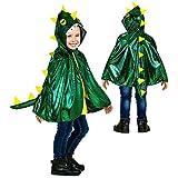 WIDMANN Disfraz infantil de dragón, capa con capucha, dinosaurio, bombero, animal, fiesta temática, carnaval