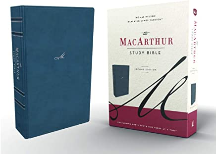 Nkjv, MacArthur Study Bible, 2nd Edition, Leathersoft, Blue, Indexed, Comfort Print: Unleashing God's Truth One Verse at a Time