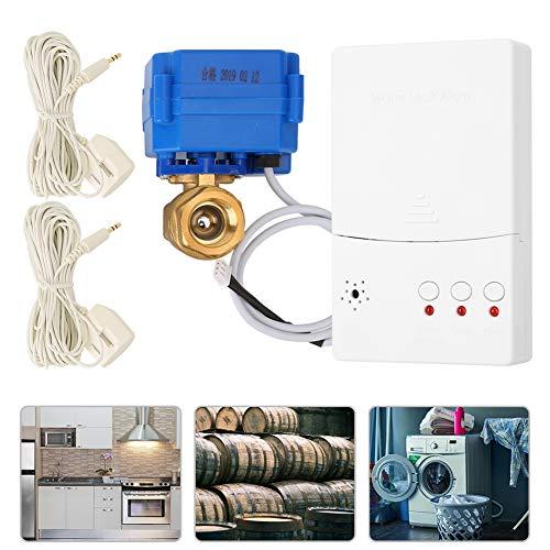 Intelligenter Wasseralarmmelder Leckage Alarm Auto-Absperrventil Dn15 Kann mit einem Home Security Alarm verbunden und gesteuert werden(EU)
