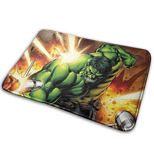 LZMM SanRe Hulk Hero-Interior Exterior Entrada de Bienvenida Alfombra Alfombrillas Raspador de Zapatos Antideslizante 15.7x23.5 Pulgadas