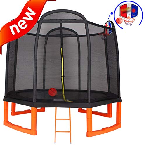 Trampoline Garten Im Freien Rebounder Indoor-Trampolin Für Kinder Sprungbett Mit Sicherheitsnetz Erwachsenentrampolin Hochelastisches Trampolin Größe: 9,6 Fuß ( Color : Black , Size : 2.93*2.68m )