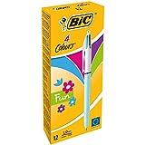 BIC 4-Farb-Druckkugelschreiber 4 Colours Fun – Multifunktionsstift mit pastellfarbenen Minen und...