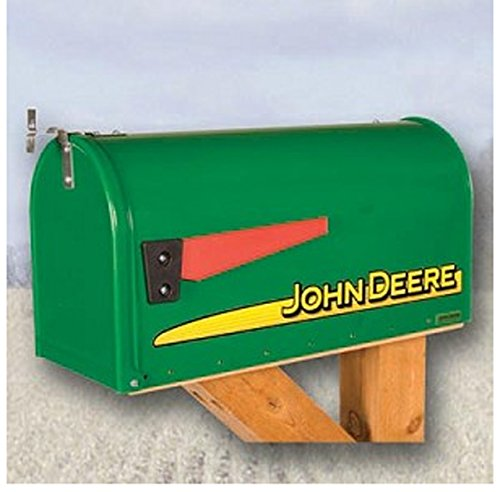 John Deere Modern Rural Style Mailbox Green