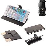 K-S-Trade® Schutz Hülle Für Jiayu F2 Schutzhülle Flip Cover Handy Wallet Case Slim Handyhülle Bookstyle Schwarz