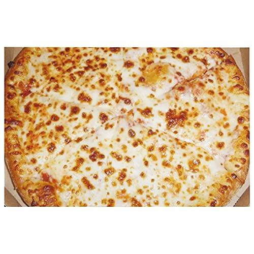 Felpudo de interior, para amantes de la pizza, divertido comida italiana, linda entrada, alfombra de baño súper absorbente, alfombra de goma antideslizante de 39,8 x 59,7 cm