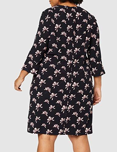 GERRY WEBER Damen Kleid Vintage Flower Mehrfarbig (Indigo/ Merlot/Elfenbein 8144), 44 - 6
