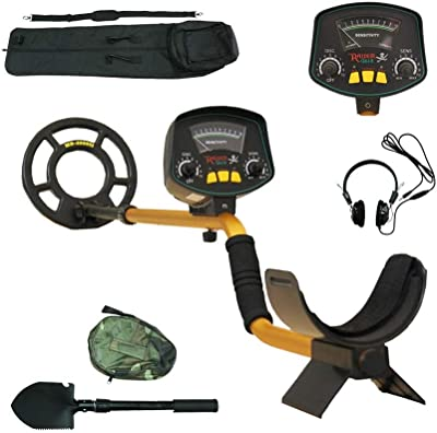 Znesd Metal Detector,High Accuracy Detector with Pinpoint Function, with Folding Shovel & Carrying Bag Audio Prompt Gold Metal Detector