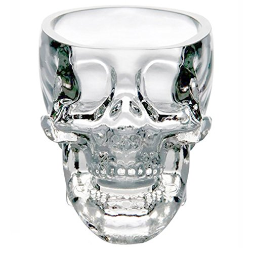 Glow Castle Creative skull glass creative skull cup vodka spirits cup glass new Crystal Skull cup (300ML)