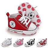 BiBeGoi Zapatillas de lona para bebés y niños y niñas, con cordones, estilo...
