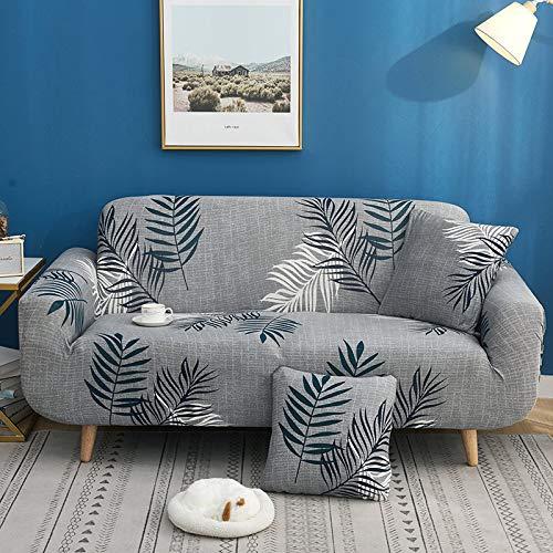ASCV Funda de sofá elástica con Estampado Floral Estilo de línea Fundas de sofá elásticas para Sala de Estar Funda de sofá Funda de sofá seccional A8 1 Plaza