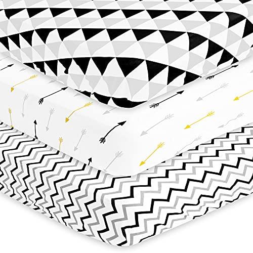 BaeBae Goods Juego de sábanas para Cuna para niños y niñas   100% algodón de Punto Jersey Supersuave   150 g/m² (Extremadamente Suave)   2 Unidades