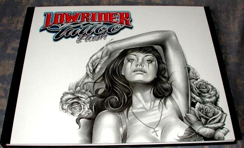 Lowrider Tattoo Flash (Chicano Gangster Cholo Deluxe Hardcover Book from...
