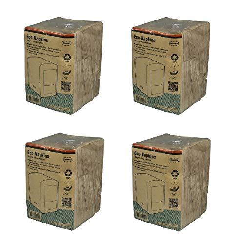 CABANAZ ORIGINAL Napkins – 4er Set Papier-Öko-Servietten für Spender CABANAZ 100% Recycled - Packung á 250 Stück