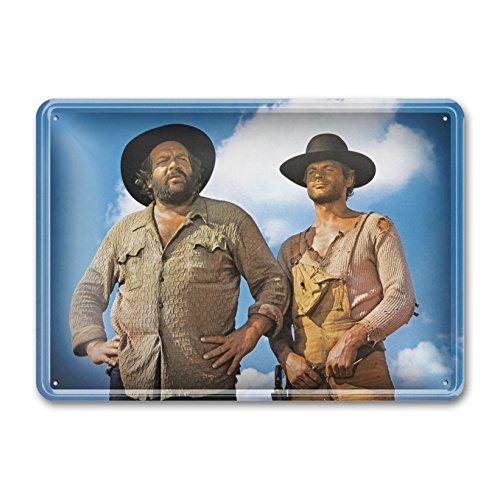 Bud Spencer® - Der Kleine & Der müde Joe/Die rechte und die Linke Hand des Teufels/stehend - Blechschild (30X23cm)