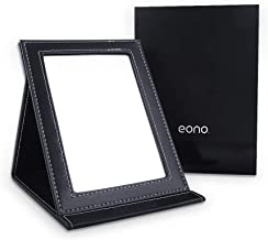 Eono by Amazon - Espejo de Maquillaje de Viaje Plegable Portátil con Soporte para Camping, Grande
