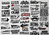 41Pcs JDM Car Sticker Racing Decale for Cars Motorcycle Helmet Reflex Decals Graphics Drift Slammed Race Funny Truck Stickers Car Side Decals
