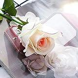 YYCVVH Flores Naturales Flor Rosa Artificiales de arreglos Florales para el hogar, la Oficina o Las Bodas. 5 Palos