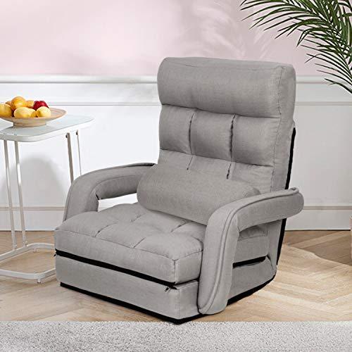 Oristus Folding Floor Chair with Arms