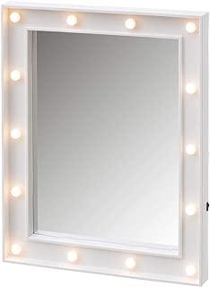 Espejo con Luces led Blanco Vintage para Dormitorio de 39 x