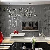 Reyqing 3d tridimensionnel Soulagement, moderne papier peint intissé, télévision Fond, papier peint, Deep pression lignes, épais, Jaune clair, papier peint seulement