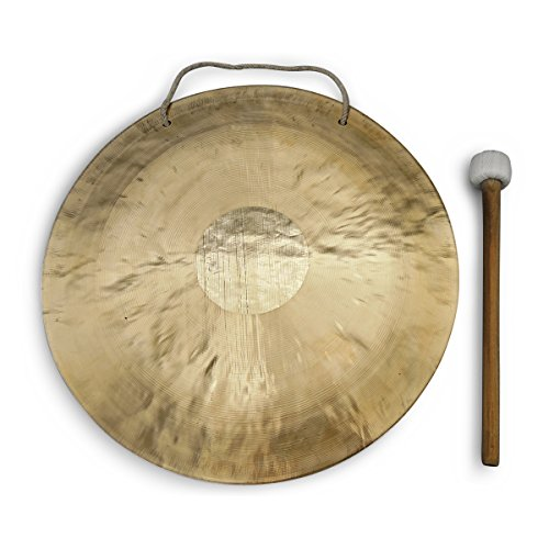 Feng Gong/Wind Gong, toller Klang, 40 cm, inklusiv Holz-/ Baumwollklöppel -7014-