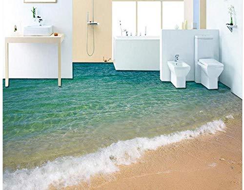 3D Boden Malerei Tapete Meer Strand Ozean Wellen 3D Boden Malerei Pvc Boden Tapete 3D Boden 150 * 105 Cm