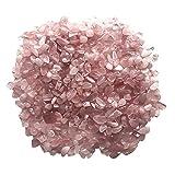 NONGFU Wangtao Store 5-7mm Naturale Rosa Rosa Quarzo Cristallo di Cristallo Pietra Pietra Patatine Fritte di Roccia Lucky guarigione Naturale Cristalli di Quarzo Naturale 50g