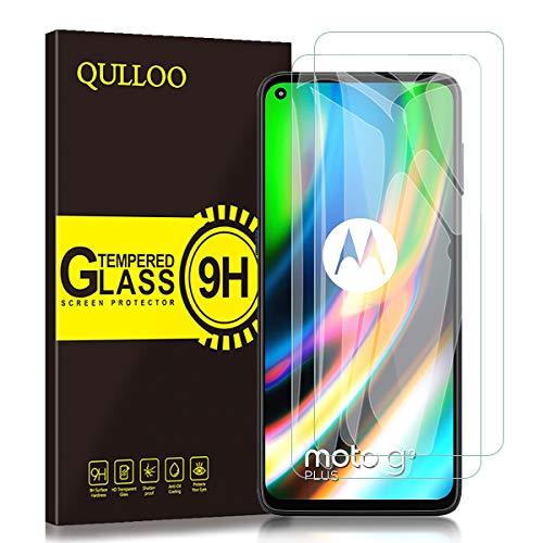 QULLOO Panzerglas für Motorola Moto G9 Plus, 9H Hartglas Schutzfolie HD Bildschirmschutzfolie Anti-Kratzen Panzerglasfolie Handy Glas Folie für Motorola Moto G9 Plus