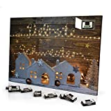 printplanet - Adventskalender mit Name Liebste Schwester - gefüllt mit Schokoladen-Füllung - Namens-Motiv Lichterkette - Schoko-Kalender, Weihnachtskalender, Namenskalender