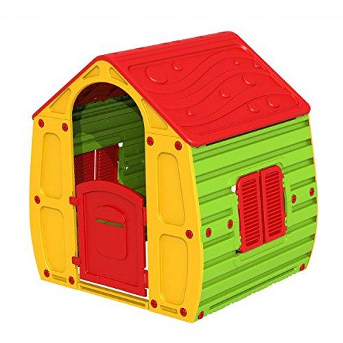 Casetta Bimbi Bambini Giardino in Resina con Porta cm 102x90xH109
