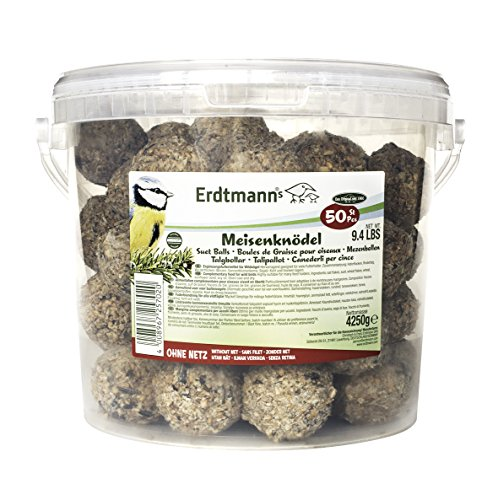 Erdtmanns 50 Meisenknödel ohne Netz im Eimer, 1er Pack (1 x 4250 gm)