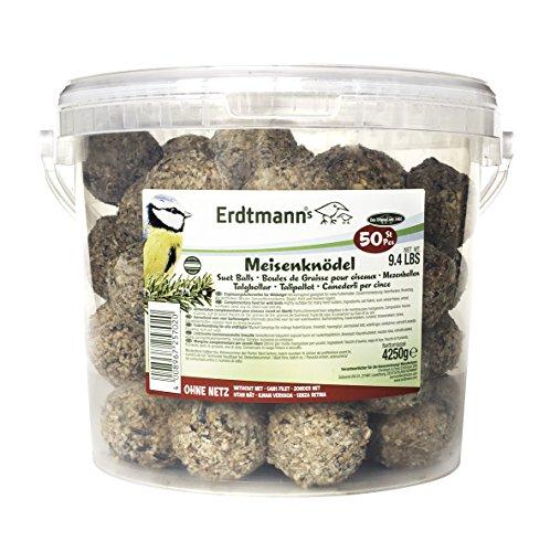 Erdtmanns No-Net Suet Balls in Tub, Pack of 50