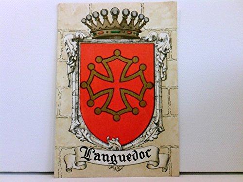 seltene AK Languedoc; Wappen; coloriert mit Golddekor