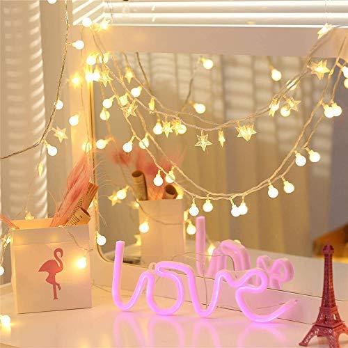 Jcpoler Led Intermitente Cadena decoración de la habitación lámpara Dormitorio Dormitorio diseño...