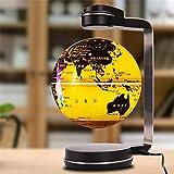 SILOLA Mapa del Mundo Flotante de levitación magnética Globo, 6 'Bola giratoria del Planeta Tierra Globo antigravedad con lámpara de luz LED para decoración Adorno Educación de Aprendizaje
