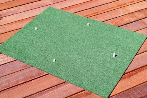 koenig-tom Profi Golf Abschlagmatte Drivingrange Übungsmatte 130x100cm + 4 Rubbertees/Rangetees