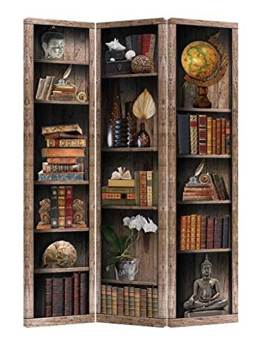 Fine Asianliving Paravent Raumteiler Trennwand Spanische Wand Raumtrenner L120xH180cm Bedruckte Canvas Sichtschutz Leinwand Doppelseitig -203-402