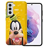WiLLBee Compatible with Galaxy S21 Case (6.2inch) Cute Layered Hybrid [TPU + PC] Bumper Cover - 3D Goofy