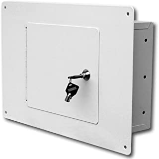 First Watch – Homak Between the Studs High Security Steel Wall Safe, White, WS00017001