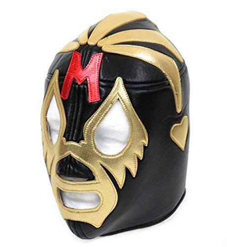 Leos Imports MIL MASCARAS Adult Lucha Libre Wrestling Mask (pro-fit) Costume Wear - Black/Gold