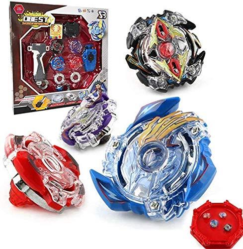 OBEST Conjuntos de Metal de Peonzas Spinning Fusión 4D 4 Box Gyro Lucha Maestro Cadena Launcher con Estadio Infinity Nado